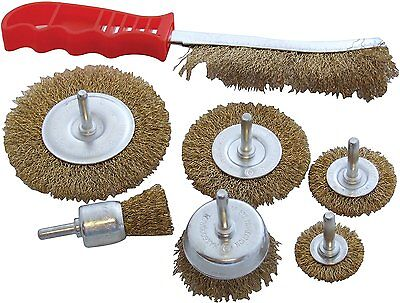 £7.19 • Buy 7 Pc DRILL WIRE WHEEL CUP Metal BRUSH For Polishing, Rust ,Sanding - HEAVY DUTY