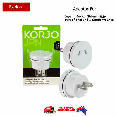 AU17.50 • Buy Korjo Travel Adaptor From Australia/NZ To Japan, USA, Canada, Mexico