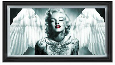 Black & White Marilyn Monroe Decor Pictures With Wings,crystals & Mirror Frames  • 229.99£