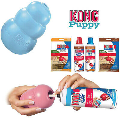 KONG Puppy Dog Toy Teething Chew Snack Easy Treat Dispenser Paste Biscuit Can • 8.49£