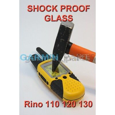 New Shock Proof Glass For Garmin Rino 130, 120, 110 Replacement Repair Lens DIY • 10.33$
