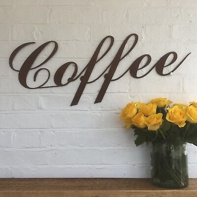 Rusty COFFEE Lettering Letters Sign Metal Shop Front Home Bar Pub Cafe Bistro • 39.99£
