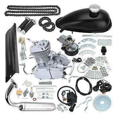 $ CDN263.63 • Buy 80cc 2-Stroke Cycle Bike Engine Motor Petrol Gas Kit For Motorized Bicycle Silve