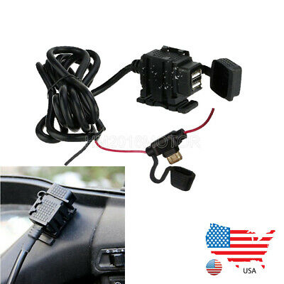 $19.62 • Buy Dual USB Phone Charger Power Socket For Suzuki GS 250 300 450 500 50 650 700 750