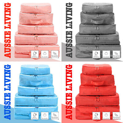 AU10.50 • Buy  5pcs Packing Cube Pouch Suitcase Clothes Storage Bags Travel Luggage Organizer