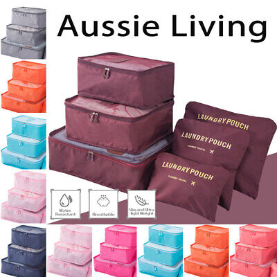 AU10.95 • Buy 6 Pcs Clothes Underwear Socks Packing Cube Storage Travel Luggage Organizer Bag