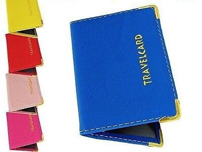£1.99 • Buy Leather Travel Oyster Card Bus Pass Rail Card Holder Wallet Card Cover Case B3