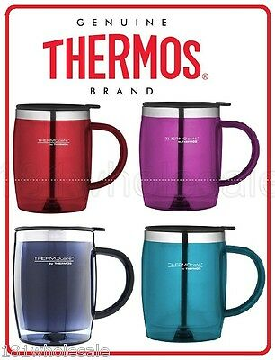 AU19.50 • Buy Thermos Travel Desk Mug 450ml Stainless Steel Insulated Interior TEAL PINK BLUE
