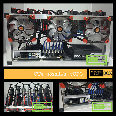 AU8712 • Buy Mining Rig Virtual Currency ZCash 182mh/s GTX-1070 X 7 MSI NVIDIA Graphic Cards