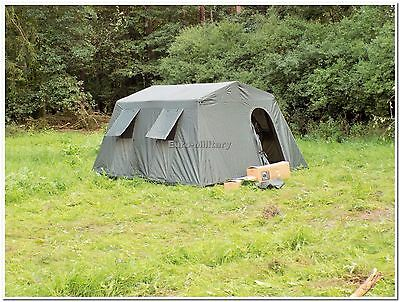 AU343.21 • Buy Military Army Outdoor Large BaseCamp Tent Shelter 6 Person - Olive - Factory New