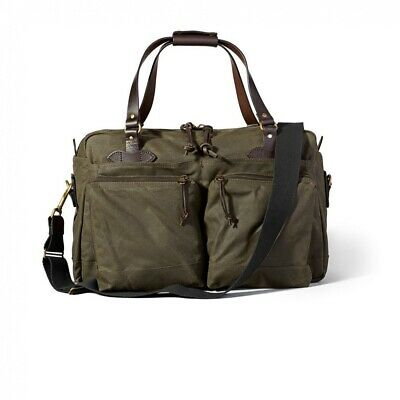 325baf5c6e Filson 70328 48 Hour Oil Finish Tin Cloth Duffle Bag Otter Green • 288.00