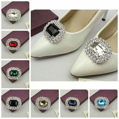 £5.59 • Buy 1 Pair Crystal Rhinestone Boots Shoes Clips Buckle Jewelry Lady High Heels Decor