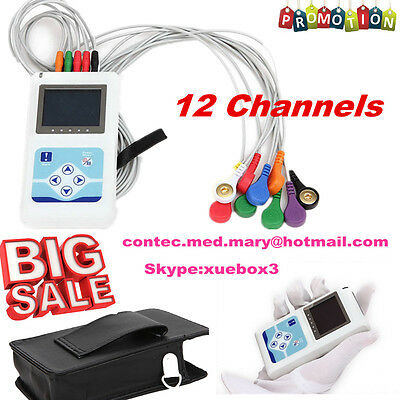 £366.66 • Buy CE 24 Hour 12 Channel ECG/EKG Holter/recorder Monitor/System TLC5000,PC Software