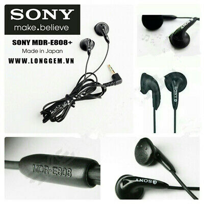 Sony MDR-E808 Earbuds Headphones Stereo Earphones 3.5mm  For MP3+ Leather Pouch • 4.99£
