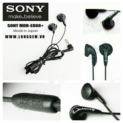 Sony MDR-E808 Earbuds Headphones Stereo Earphones 3.5mm W Leather Bag For MP3 • 5.49£