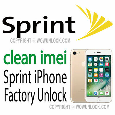 $35 • Buy USA Sprint IPhone X 8 8+ 7 7+ 6S 6S+ 6 Plus Xr Xs Max Unlock Service Clean Only