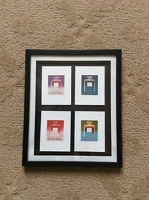 $49 • Buy 4 Chanel Poster Cards Promotional Andy Warhol In A Frame