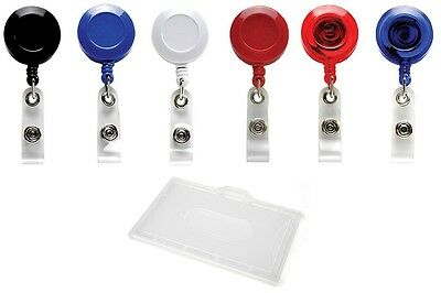Retractable ID Card Reel Ski Pass, YoYo Reel With Value Enclosed ID Card Holder • 2.10£