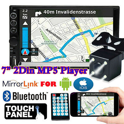 $81.20 • Buy Double 2 Din Car Stereo 7 + Backup Camera Touch Screen Mirror Link For GPS US