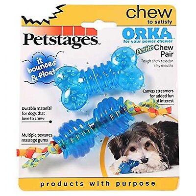 £7.94 • Buy PETSTAGES ORKA PETITE CHEW PAIR Durable Material For Dogs That Love To Chew