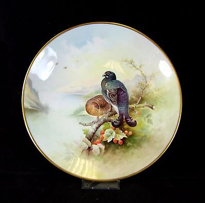 Hand Painted Minton Cabinet Plate - Black Game - Arthur Holland. • 195£