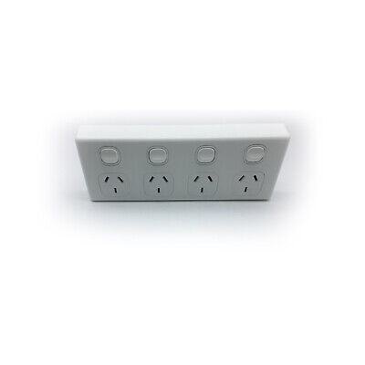 AU94.41 • Buy 4 Gang GPO Quad Power Point Outlet 5x Bulk 3 Pin Socket Outlet With Switches