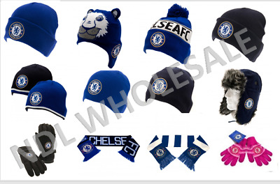 £7.99 • Buy CHELSEA FC Knitted Gloves Knitted Hat Scarf Ear Muffs Birthday Christmas Gift