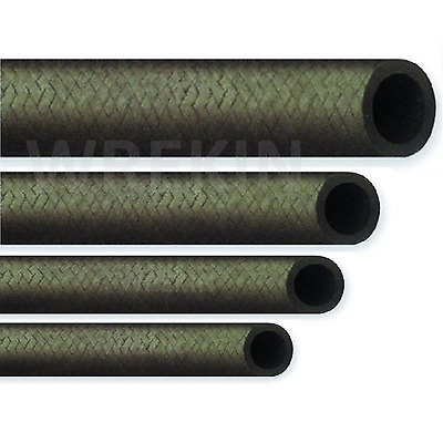 Cotton Braided Rubber Fuel Hose For Unleaded Petrol / Diesel Oil, Line Pipe UK • 1.95£