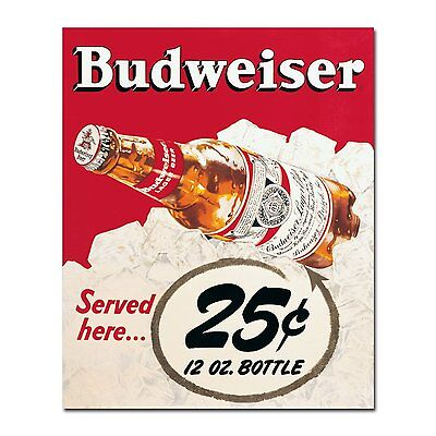 Budweiser Beer Vintage Metal Sign Tin Retro Plaque Garage Bar Pub Man Cave • 4.99£