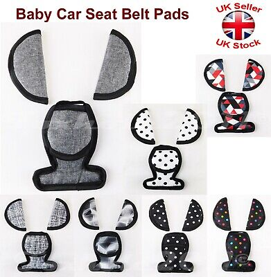 Baby Car Seat Belts Crotch Cover Harness Shoulder Straps Pads Maxi Cosi Patterns • 4.97£