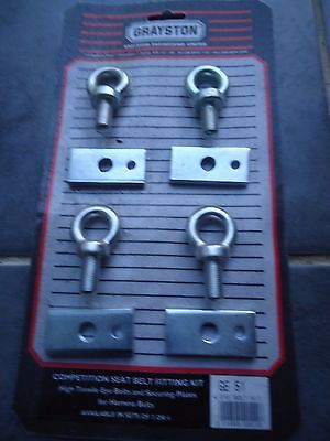 Harness Eye Bolts + Back Plates Fixing Kit Rally Race • 18£