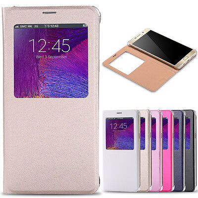 $ CDN4.80 • Buy For Samsung Galaxy Note 9 8 S7 Edge S8 S9 Plus Flip Phone PU Leather Case Cover