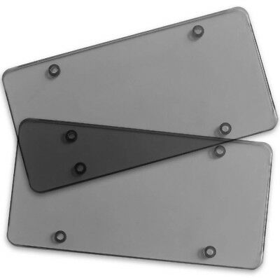 $8.50 • Buy New 2 Smoke License Plate Flat Cover Shield Bug Tinted Plastic Protector For Tag