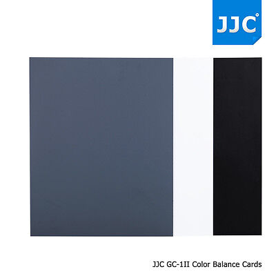 JJC Digital Grey Card White Black 18% Gray Color White Balance With Storage Bag • 12.50£
