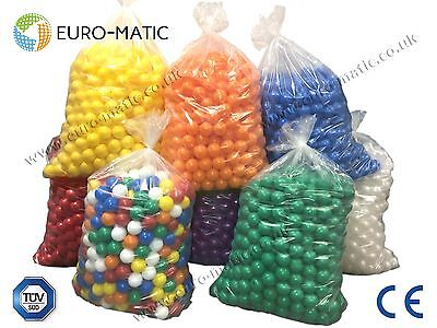 500 Euro-matic Soft Play Pen Pit Pool Balls COMMERCIAL GRADE 75mm *FREE NETSACK • 96£