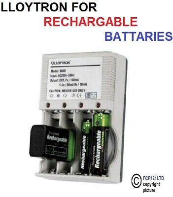 £8.90 • Buy Lloytron Compact Mains Plug In Battery Charger For AA AAA Or 9V