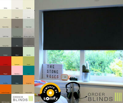 Blackout Electric Roller Blinds - Electric Blinds Powered Using Somfy Motors • 186.99£