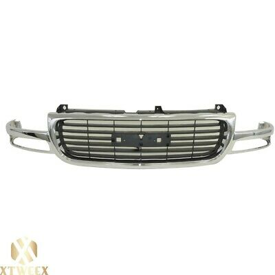 $197.04 • Buy Chrome Grille W/Black Insert For 99-02 Sierra 1500 Pickup Truck 00-06 Yukon ?New