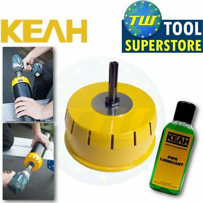KEAH 110mm Professional Pipe Chamfering Tool Underground Soil Pipes + Lubricant • 38.50£