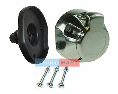 12 V N Type 7pin Metal Trailer Or Caravan Towing Socket With Fittings And Gasket • 6.14£