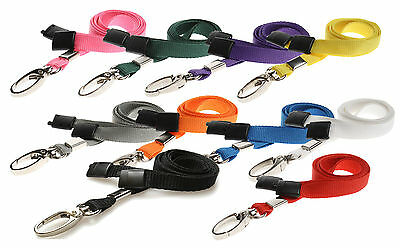 £1.87 • Buy Lanyard Neck Strap, Strong Metal Clip For ID Card Pass Holder PICK YOUR COLOUR!!