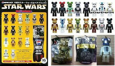 $69.99 • Buy Rare Medicom 2008 Pepsi Star Wars 70% BE@RBRICK Bearbrick Figure 16 Pcs