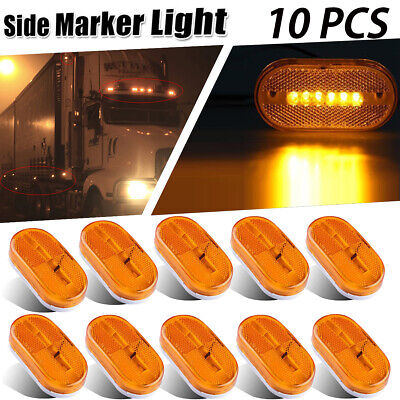 10X 10V-30V 6-LED SIDE LAMPS - Boat/Bus/Trailer/Truck/RV/Exterior/Marker Lights • 20.95$