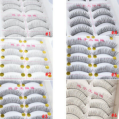 AU6.99 • Buy 10 Pairs False Eyelashes Long Natural Handmade Fake Lashes Extension