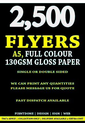 £75 • Buy Full Colour - Double Sided A5 5000 On 130gms Flyers / Leaflets -ONLY
