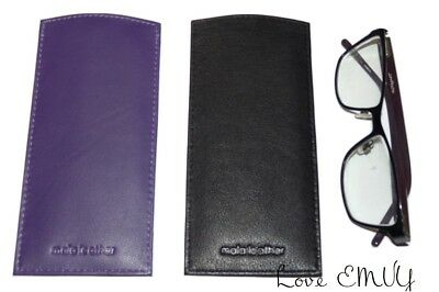 £5.99 • Buy Mala Leather Glasses Slip In Sleeve Case Reading Lined Genuine Leather