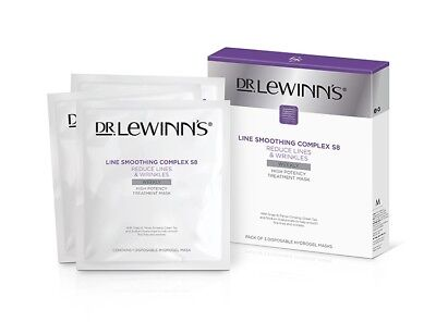 £20.11 • Buy Dr Lewinn's Line Smoothing Complex High Potency Treatment Mask 3pk Reduce Lines