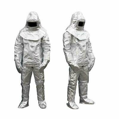 Thermal Radiation 1000 Degree Heat Resistant Aluminized Suit Fireproof Clothes A • 132.54$