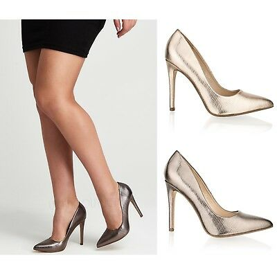 Womens Ladies High Stiletto Heel Pointed Toe Shoes Party Wedding Sandals Size • 9.99£