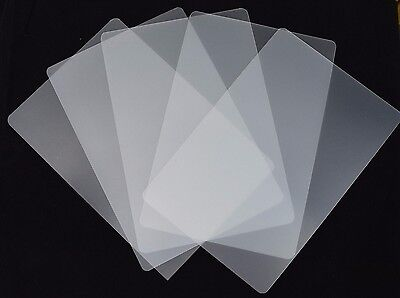£3.99 • Buy 10x Clear Frosted Plastic Sheets Arts Craft Model Making (Approx 240x190mm)